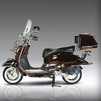 retro roller easy cruiser chrom 50 ccm mokkabraun motorroller. Black Bedroom Furniture Sets. Home Design Ideas