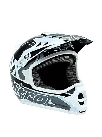 NITRO 187166M03 Casque Moto Raider Junior Gris