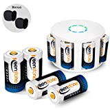 RCR123A Rechargeable Batteries Charger, Keenstone 8Pcs 3.7V 700mAh Li-ion Battery w/ 8-Ports Charger Camera Skin Arlo VMS3030/3230/3330/3430/3530 Security Cameras (Color: Arlo battery)