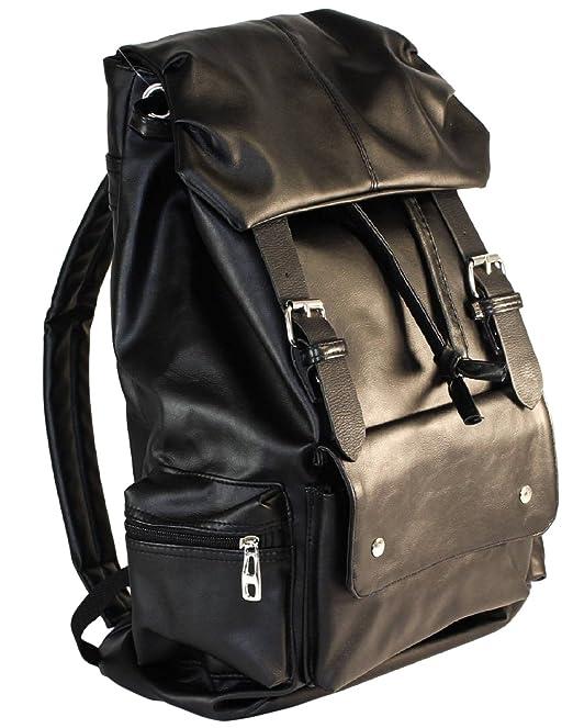 AM Landen Soft PU Backpack School Bag