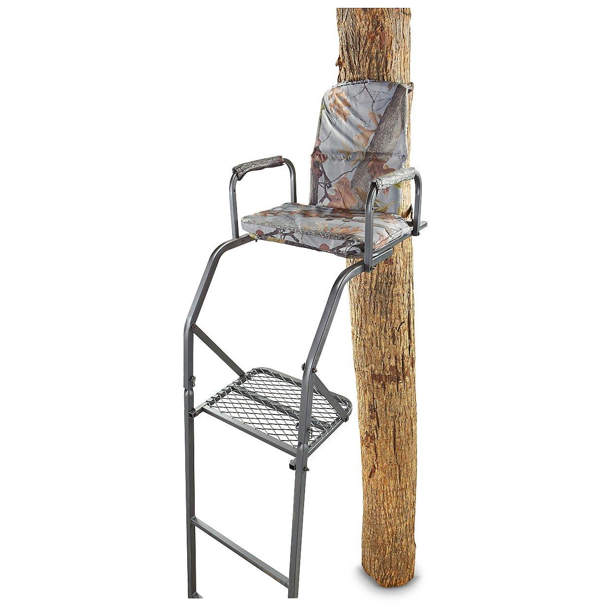Tree stand guide gear 16 39 ladder treestands hunting for Ladder deer stands