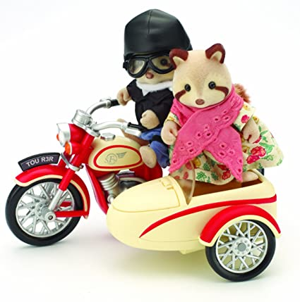 Sylvanian Families - Moto et Side-car des Mulberry - Motorcycle and Sidecar (Véhicule et Figurines)