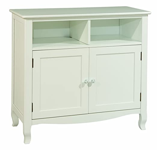 Bolton Furniture 8367500 Emma Electronics Media Storage Cabinet, White