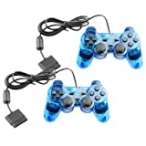 Controller for PS2 Playstation 2 Wired (Blue) - 2 Pack (Color: Blue)