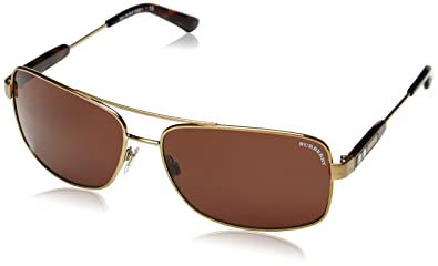 fa8a15c6cb8df6 Burberry - Lunette de soleil BE 3074 Rectangulaire - Homme, 116773, Brushed Burberry  Gold, Brown )