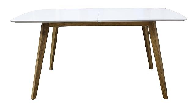 Tenzo BESS estensibile, con motivo 1-Prolunga per tavolo, dimensioni: 75 x 160-205 x 95 cm, colore: quercia/bianco