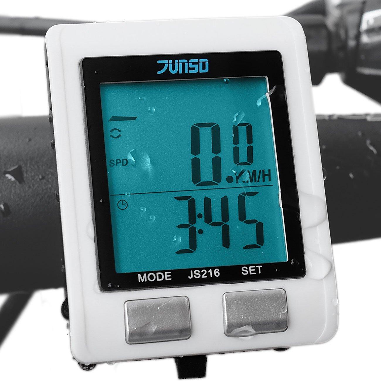 Outdoormaster JUNSD Wireless Bike Computer, Waterproof Multifunction Cycling Speedometer With Backlit Display