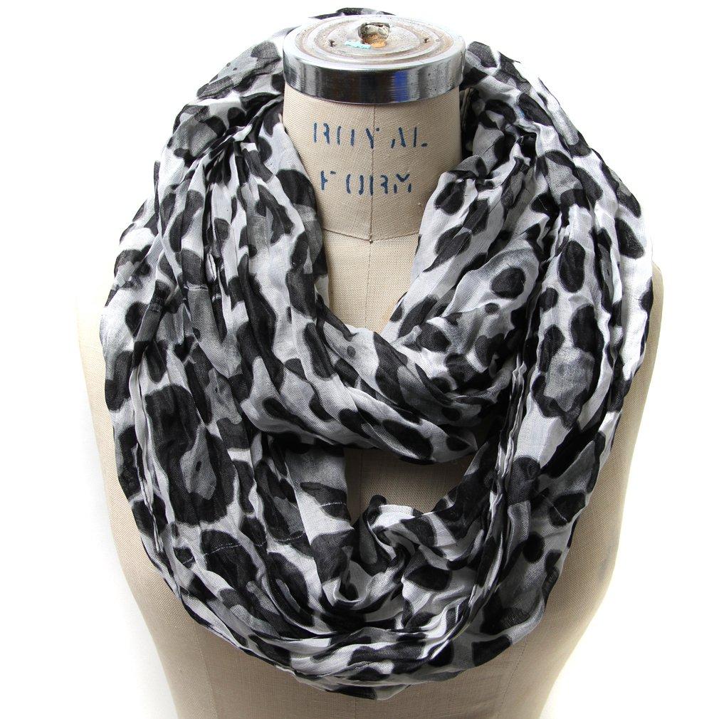 fancy outlook scarfand s leopard infinity scarf