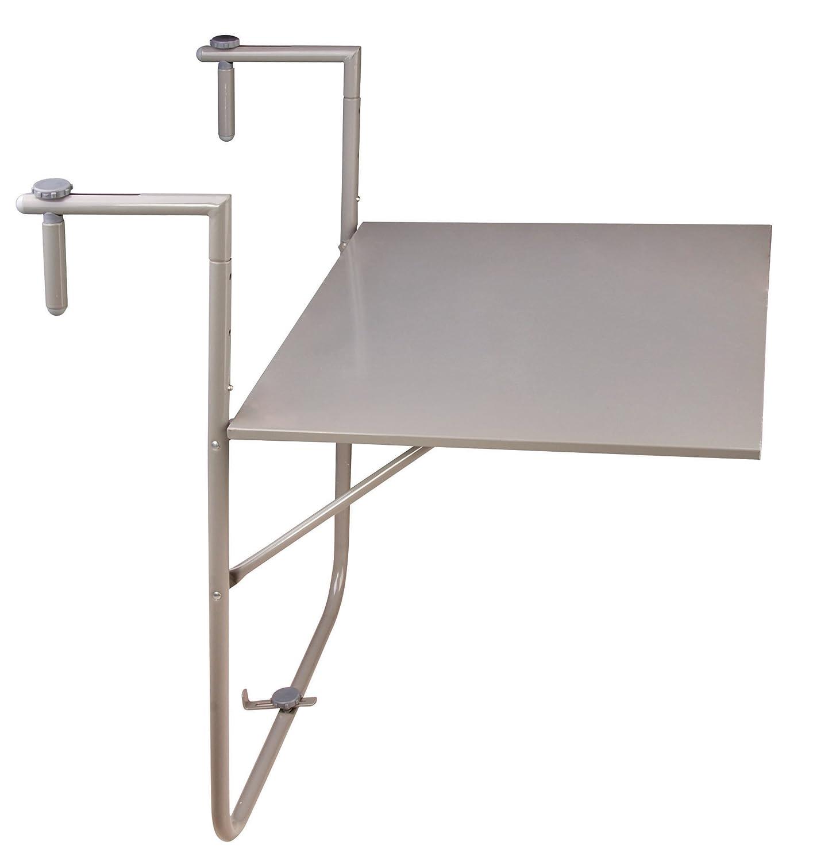 Esschert Design Balkontisch, Klapptisch in grau, zur Befestigung am Balkongeländer, ca. 60 cm x 76 cm x 83 cm bestellen