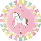 BirthdayExpress Carousel Luncheon Plate (Color: Multi-colored, Tamaño: One Size)