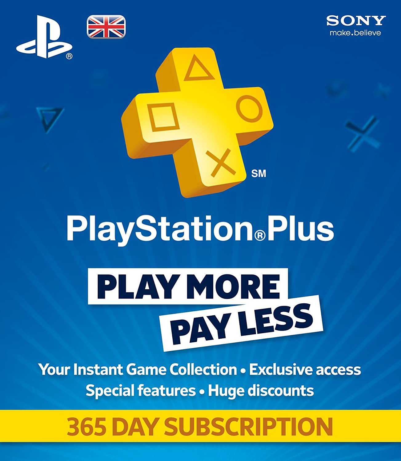 Sony Playstation Plus 365 Day Subscription
