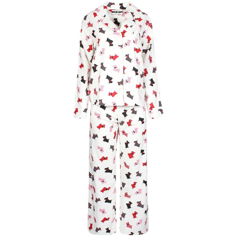 MIXLOT Damen, Frauen-reizvoller Winter / Casual Wear Printed Mädchen Flanell-Pyjama-Set Größe: 36-48 günstig bestellen