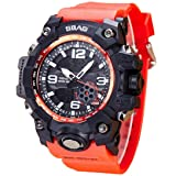 Oksale SBAO Men LED Waterproof Watch Sports Watches Shock Digital Electronic Wristwatch (Red) (Color: Red, Tamaño: One Size)