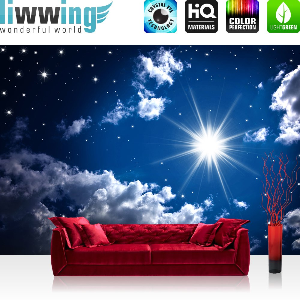 Vlies Fototapete PREMIUM PLUS 400x280cm ROMANTIC STARS by liwwing (R) Vliestapete Tapete Tapeten Fototapeten Wandbild Bild Foto Sternenhimmel Stars Sterne Leuchtsterne Nachthimmel  BaumarktBewertungen