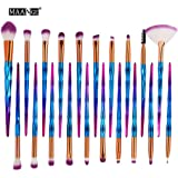 Goddessvan Makeup Brushes 20PCS Make Up Foundation Eyebrow Eyeliner Blush Cosmetic concealer Brushes (Blue)