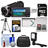 Sony Handycam HDR-CX405 1080p HD Video Camera Camcorder with 32GB Card + Case + LED Light + Battery + Tripod + Kit (Color: Black)