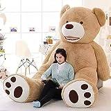 63 Inch Stuffed Teddy Bears With Big Footprints Plush Toys Light Brown 5 ft teddy bear (Color: Brown, Tamaño: 160cm)