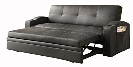 Homelegance 4803BLK* Convertible/Adjustable Sofa Bed, Black Bi-cast Vinyl