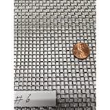 ASC Stainless Steel Mesh 304,#6 .035 Wire,Cloth,Screen,Woven wire 12