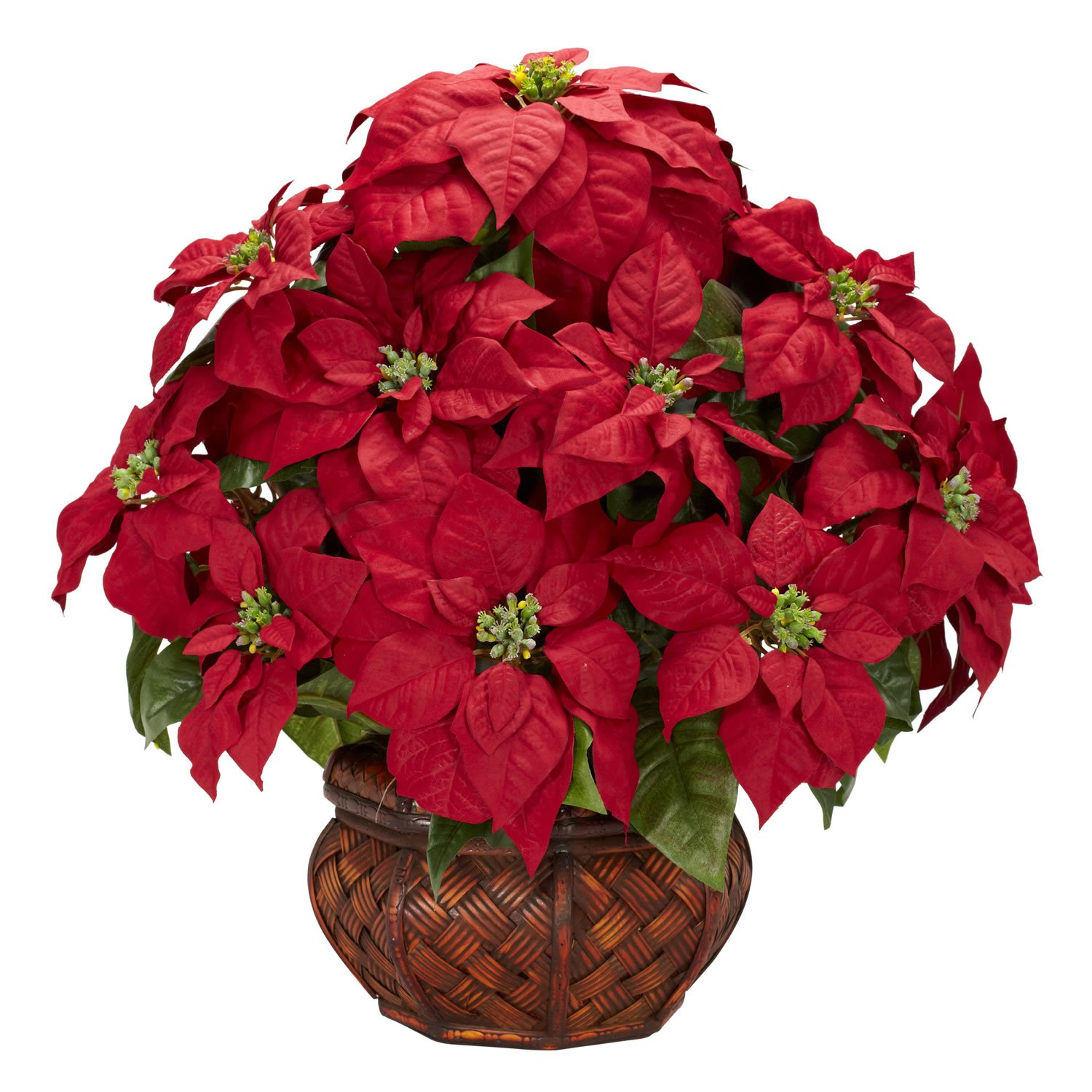 Artificial poinsettia arrangements christmas wikii for Poinsettia arrangements