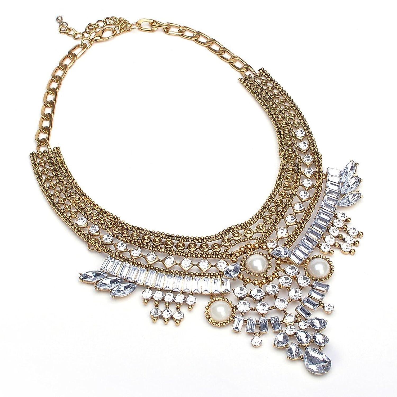 Fashion Vintage Tribal Ethnische Kette Perlen Erklaerung klumpige Choker Schellfisch Halskette günstig online kaufen