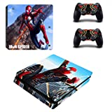 Vanknight PS4 Slim Console Dualshock Controllers Skin Set Vinyl Decal Sticker for Playstation 4 Slim Console