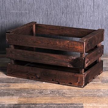 2 St/ück Deko-K/örbe aus Holz Verschiedene Gr/ö/ßen