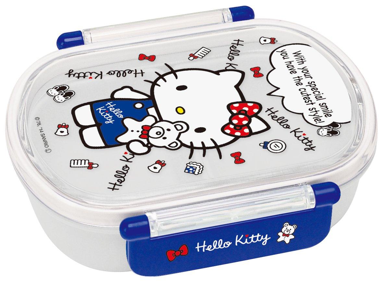 Tight lunch box 360ml Hello Kitty White