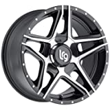 LRG Rims LRG109 Pike Satin Black Wheel with Machined Face (20x10