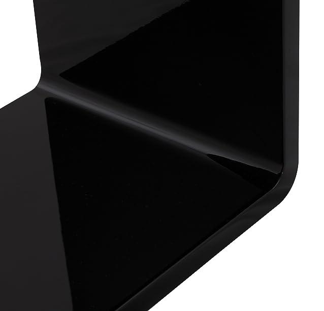 TAVOLINO RECTO NERO IN MDF LACCATO - Kokoon Design - Tavolini