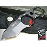 MTECH Black Straight Full Tang ONE PIECE Tanto Knife + Sheath New! 01120-56BK + free eBook by ProTactical'US