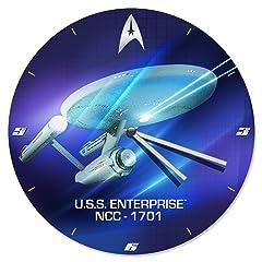 Vandor LLC 80189 Star Trek 13.5-Inch Wood Wall Clock