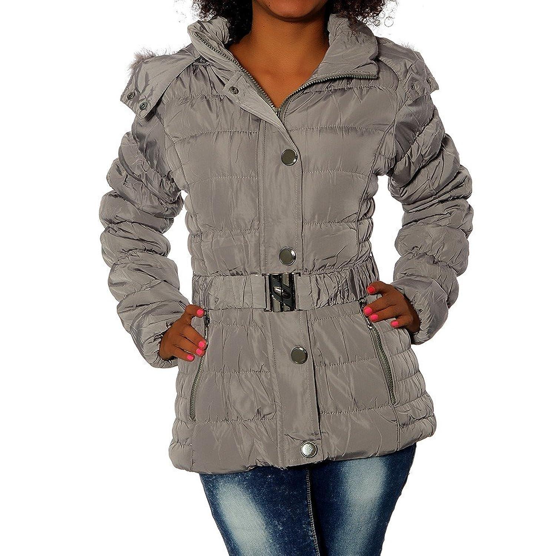 G657 Damen Winter Jacke Mantel Steppjacke Parka Jacket Daunen Look Winterjacke günstig bestellen