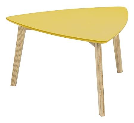 AC Design Furniture 60356 Couchtisch Mette, Tischplatte aus Holz, lackiert curry
