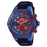 Invicta Men's 25688 Marvel Quartz Chronograph Red Dial Watch (Color: black)