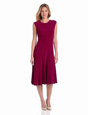 Gabby Skye Women's Solid Drape Front Dress, Date, 6 Missy