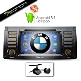 Eonon GA6166 Android Lolipop 5.1 Quad Core with HD Backup Camera for 00-06 BMW X5 e53: 7-Inch Touch Screen DVD / WiFi / GPS / Bluetooth