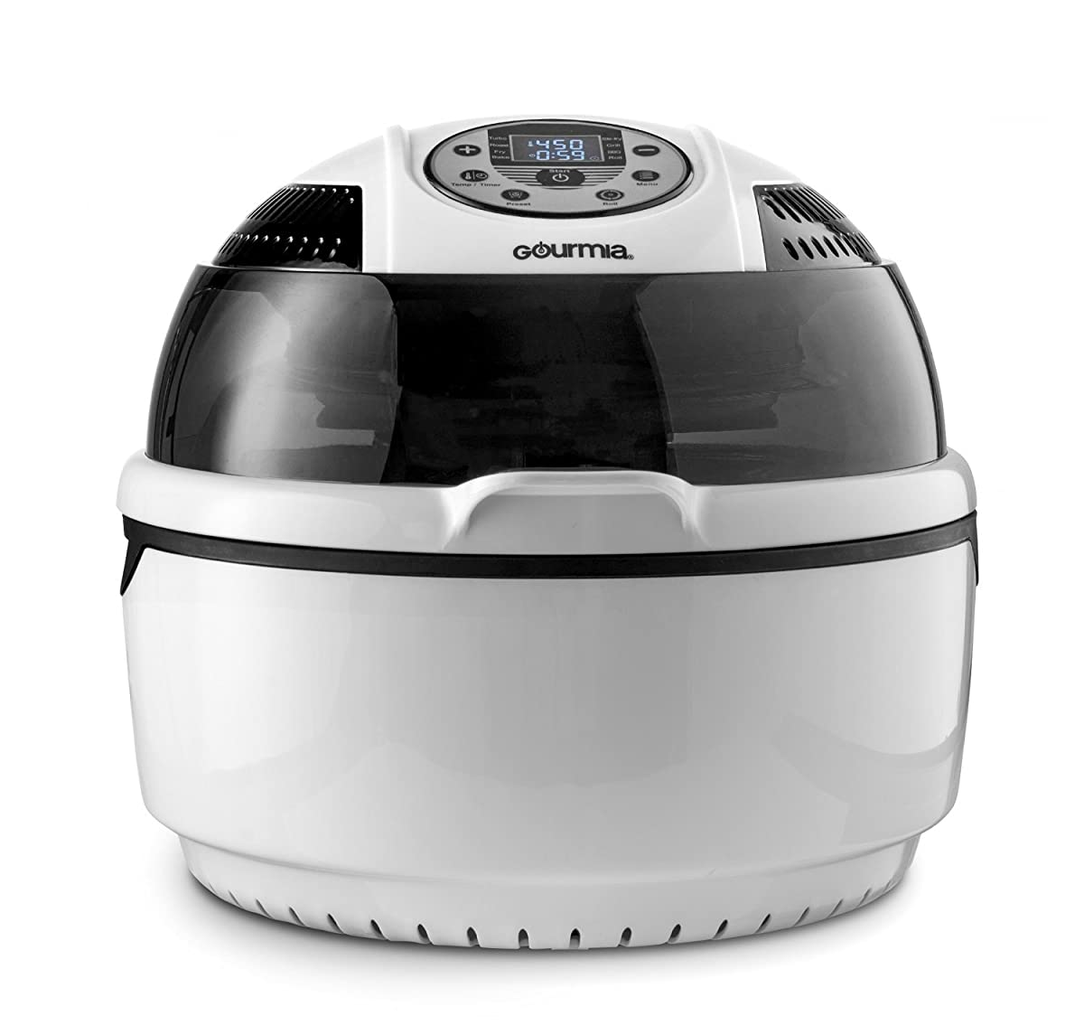 Gourmia GTA1500 Digital Electric Air Fryer, Griller and Roaster with Calorie Reducer Technology, Free Recipe Book Included