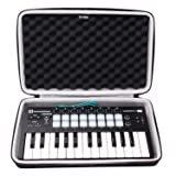 LTGEM EVA Hard Case for Novation Launchkey Mini 25-Note USB Keyboard MK2 Controller - Travel Protective Carrying Storage Bag (Color: Novation Launchkey Mini 25 Case)