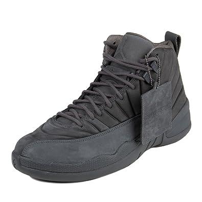 Nike Mens Public School x Air Jordan 12 Retro Dark Grey/Black Suede Size 8