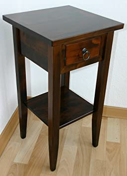massivholz beistelltisch blumentisch blumenhocker 60 holz massiv kolonial dee358. Black Bedroom Furniture Sets. Home Design Ideas