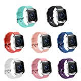 GinCoband Fitbit Blaze Bands Replacement For Fitbit Blaze Smart Watch No tracker 8 Color Large Small Women (set of 8, Large)