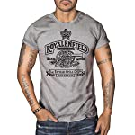Royal Enfield Vintage Logo MOTORCYCLE BIKER Mens Top Dry Grey T-Shirt