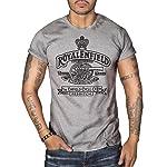 Royal Enfield Vintage Logo MOTORCYCLE BIKER Mens Top Dry Grey T-Shirt