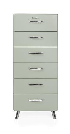 Tenzo 4916-076 Cobra Designer Kommode Holz, pastellgrun, 43 x 56 x 130 cm