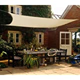 Shade&Beyond Sun Shade Sail Canopy 12'x16' Rectangle UV Block for Patio Deck Yard and Outdoor Activities Sand
