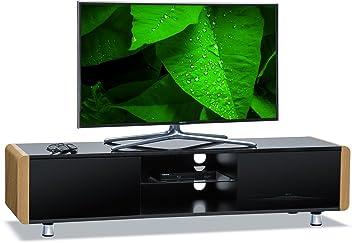 Centurion Supports TV-Schrank CAPRI, Schwarz glänzend, Fernbedienungsfreundlich, fur Flachbildfernseher von 81,3cm bis 165cm