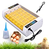 XuanYue Egg Incubator, 24 Digital Automatic Incubator for Chicken Eggs, with Automatic Egg Turning and Digital Temperature Control, Poultry Hatcher for Chickens Ducks Goose Birds (Color: White)