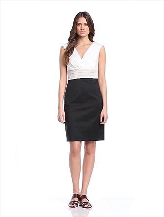 ESPRIT Collection Damen Kleid, Elegantes Cocktail Kleid mit leichtem Glanzeffekt , 36 (Herstellergröße: 36), Schwarz (BLACK)
