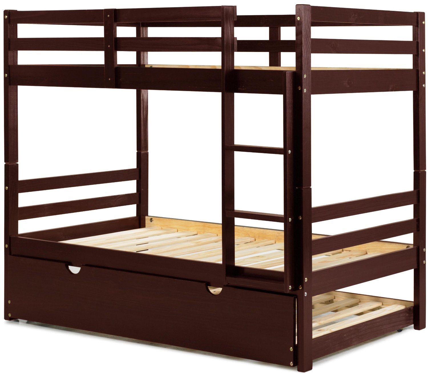 100 solid wood arizona twin twin bunk bed 8 slats for Twin bed frame under 100